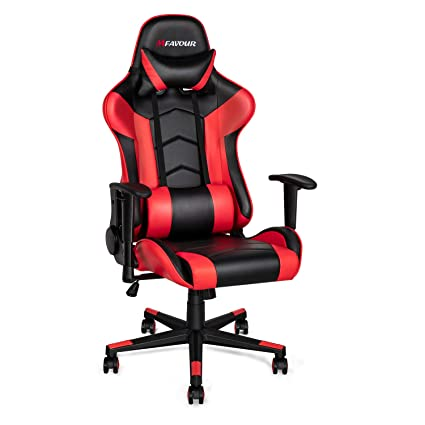 Excellent Mfavour Gaming Chair Racing Style Pc Office Chair Leather Computer Chairs Ergonomic Heavy Duty Desk Chair With Adjustable Armrest And Lumbar Support Lamtechconsult Wood Chair Design Ideas Lamtechconsultcom
