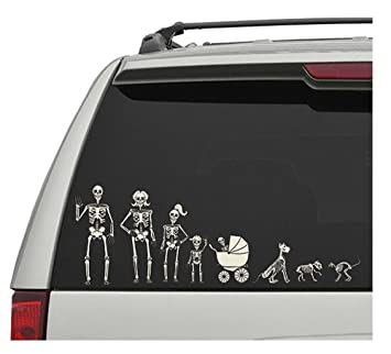 Amazoncom Crazy Bonez Skeleton Family Window Decals Toys Games - Window decals amazon