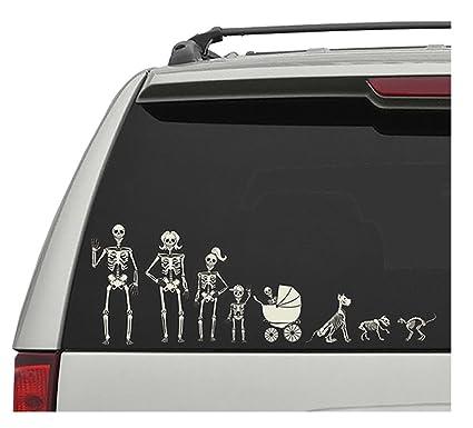 Crazy bonez skeleton family window decals