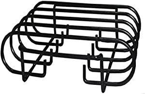 BBQ funland (1-Pack Porcelain Coated Sturdy Steel Non-Stick Roasting/Rib Rack for Weber, Charbroil, Kenmore, Master Forge,Brinkmann, Big Green Egg, Primo and Kamado Ceramic Grills
