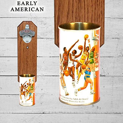 Wall Mounted Bottle Opener with Vintage NBA All Star Basketball Beer Can (Nba Basketball Beer)