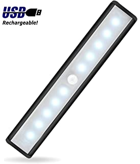 JEBSENS   T05B Battery Operated Closet Light, 10 LED Under Cabinet Lighting  With Motion Sensor