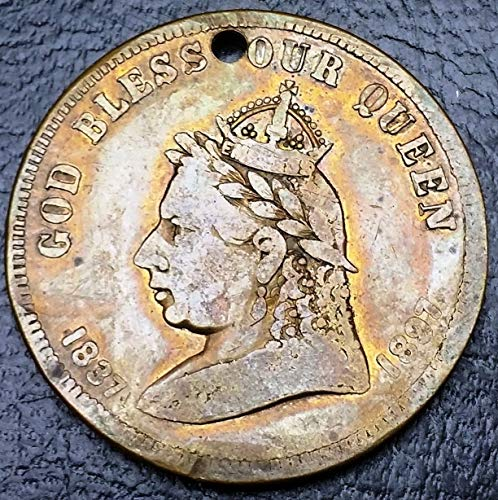 (1897 Canada God Bless Our Queen Jubilee Medal, Leroux 1875n◢ Free Combined S/H ◣ )