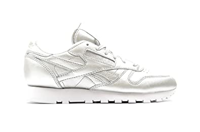 afc78ca88c7 Reebok X face Stockholm Women s Classic Leather Spirit Silver Presence White  V62700 (Size