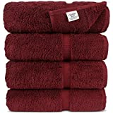Chakir Turkish Linens Cotton Luxury Bath Towel Set of 4, Cranberry Deal