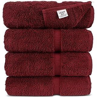 Chakir Turkish Linens Turkish Cotton Luxury Hotel & Spa Bath Towel, Bath Towel - Set of 4, Cranberry (B00O2QJXB0) | Amazon price tracker / tracking, Amazon price history charts, Amazon price watches, Amazon price drop alerts