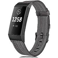 findway Band kompatybilny z Fitbit Charge 4 pasek / ładowanie 3 pasek dla kobiet mężczyzn, sportowe tkane nylonowe paski…