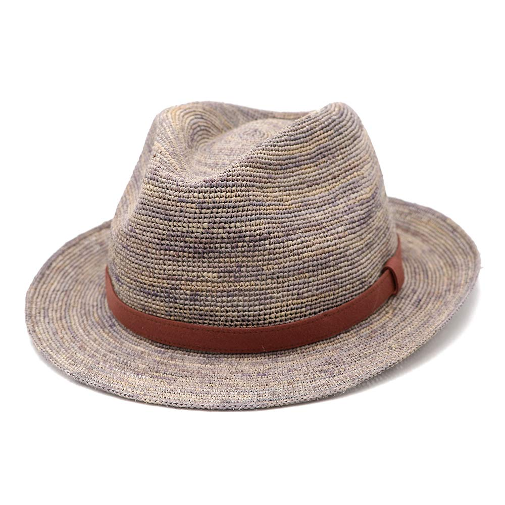 xuanchen Summer Raffia Hats Sun Protection Men Straw Hat for Camping,Beach,Hiking 57cm