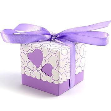 Geschenkbox hochzeit lila