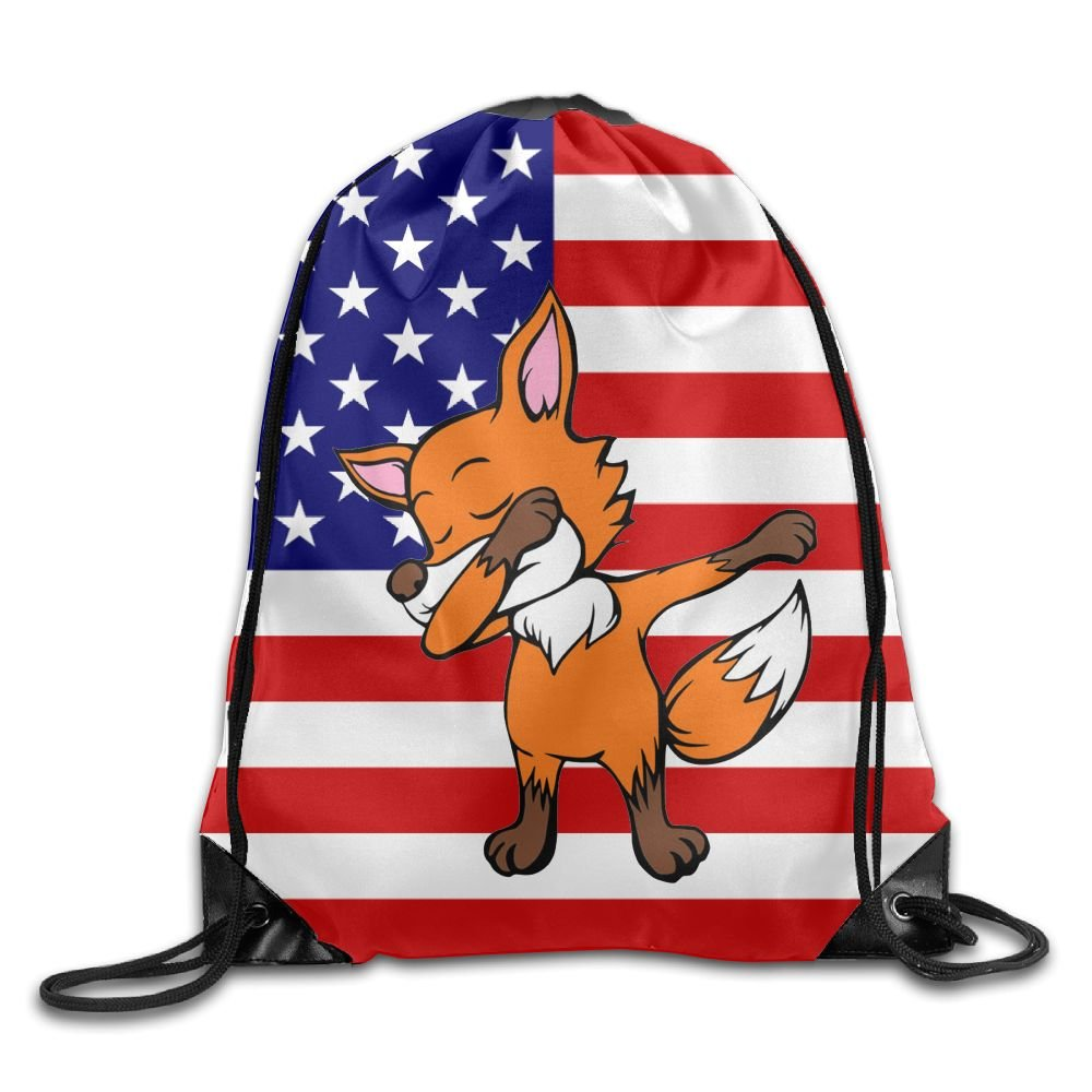 VIMUCIS USA Flag Drawstring Backpack Rucksack Shoulder Bags Training Gym Sack For Man And Women