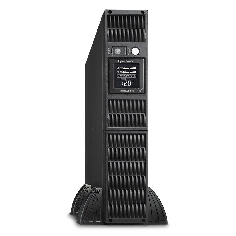CyberPower PR3000LCDRT2U Smart App Sinewave UPS System, 3000VA/2700W, 9 Outlets, AVR, 2U Rack/Tower