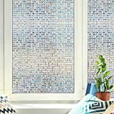 WPT Window Privacy Film 3D Decorative Self-Adhesive Window Film Privacy Static Cling Vinyl for Reuse...