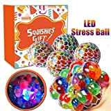 Magicwand Anti-Stress Mesh Squishy Ball with Led Lights for Releiving Stress, Anxiety (Pack of 2)