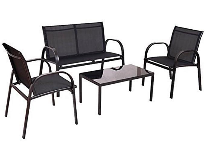 Amazon.com : Furniture Set Sofa Coffee Table Steel Frame ...