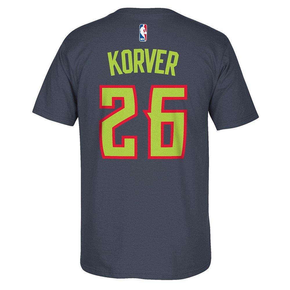 カイルエリオットコーバーAtlanta Hawks NBA AdidasグレーPlayer Name & NumberチームジャージーTシャツメンズ X-Large  B07G1D9SL6