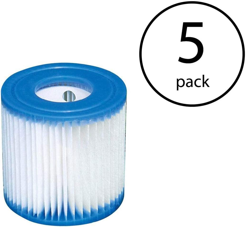 Intex 29007E Type H Easy Set Filter Cartridge Replacement for Swimming Pools
