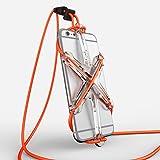 XPORTER NEO スポーツ用ストラップ・ホルダー for iPhone 6/6plus/6s & Smartphones ランニング・ジョギング・サイクリングに最適 (クリア&オレンジ)