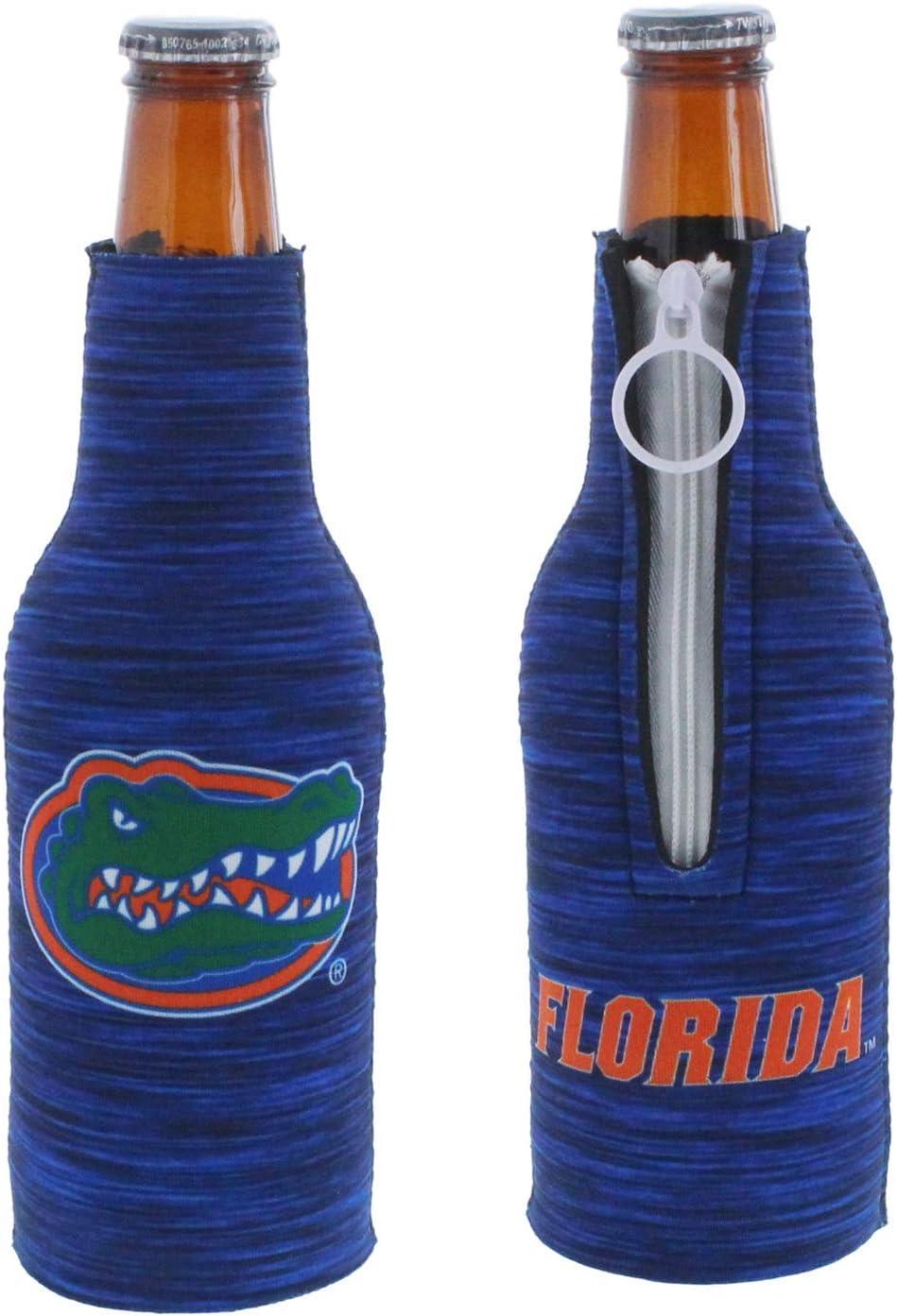 Kolder NCAA College Team Logo 2-Sided Insulated Neoprene Zipper Bottle Holder Suit Cooler 2-Pack Set