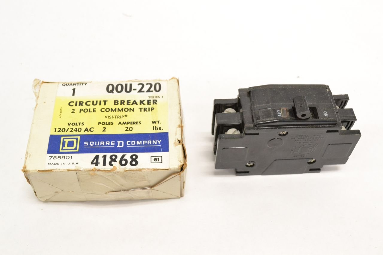 THERMAL MAG 2P 20A SQUARE D BY SCHNEIDER ELECTRIC QOU220 CIRCUIT BREAKER