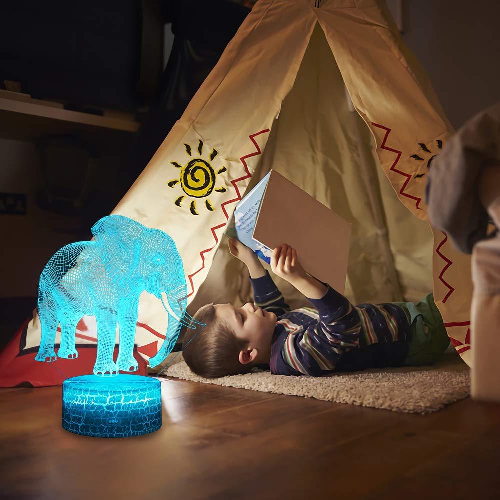 USlinsky LED Lampe 7 couleurs Lumi/ère Dimmable Tactile Interrupteur USB//Batterie Ins/érer Decoration Anniversaire Cadeau No/ël Pour B/éb/é Enfant Ado Femme Homme Moto 3D Lampes avec T/él/écommande