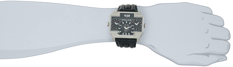 a1d52a711 POLICE Herren Armbanduhr Hammerhead Schwarz P13088JS-02 Black Leather Strap  Mens Watch: Amazon.ae