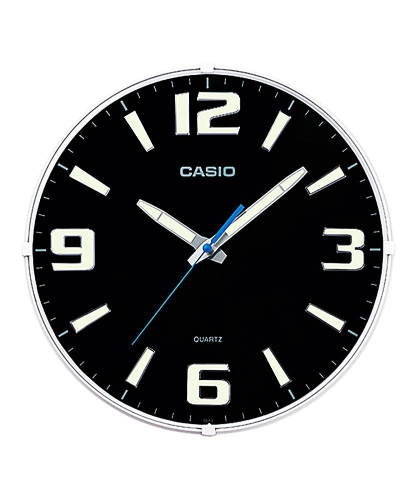 Buy casio round resin analog wall clock 308 cmx308 cmx49 cm buy casio round resin analog wall clock 308 cmx308 cmx49 cm white and black wcl53 online at low prices in india amazon amipublicfo Gallery