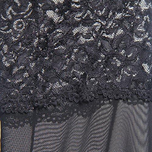 lunga cintura V camicia Plus cravatta Camicia 115 notte Size da scollo le manica a intimo M donne 45 vestaglia da kg nera Lingerie dimensioni UOMUN profondo per notte accappatoi q1ZwXva1