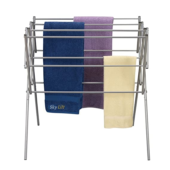 Skylift Stainless Steel Cloth Drying Stand, Blue - 45 Feet Drying Racks at amazon