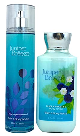 Bath Body Works Signature Collection Juniper Breeze Gift Set Body Lotion Fragrance Mist. Lot of 2