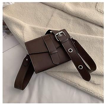 275ec5a11233 Sunbona Retro Messenger Bag for Women Crossbody Simple Wide ...