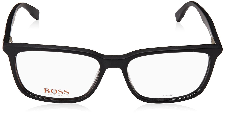 594145daed Amazon.com  Hugo Boss frame (BO-0303 003) Acetate Matt Black - Black stripe   Clothing