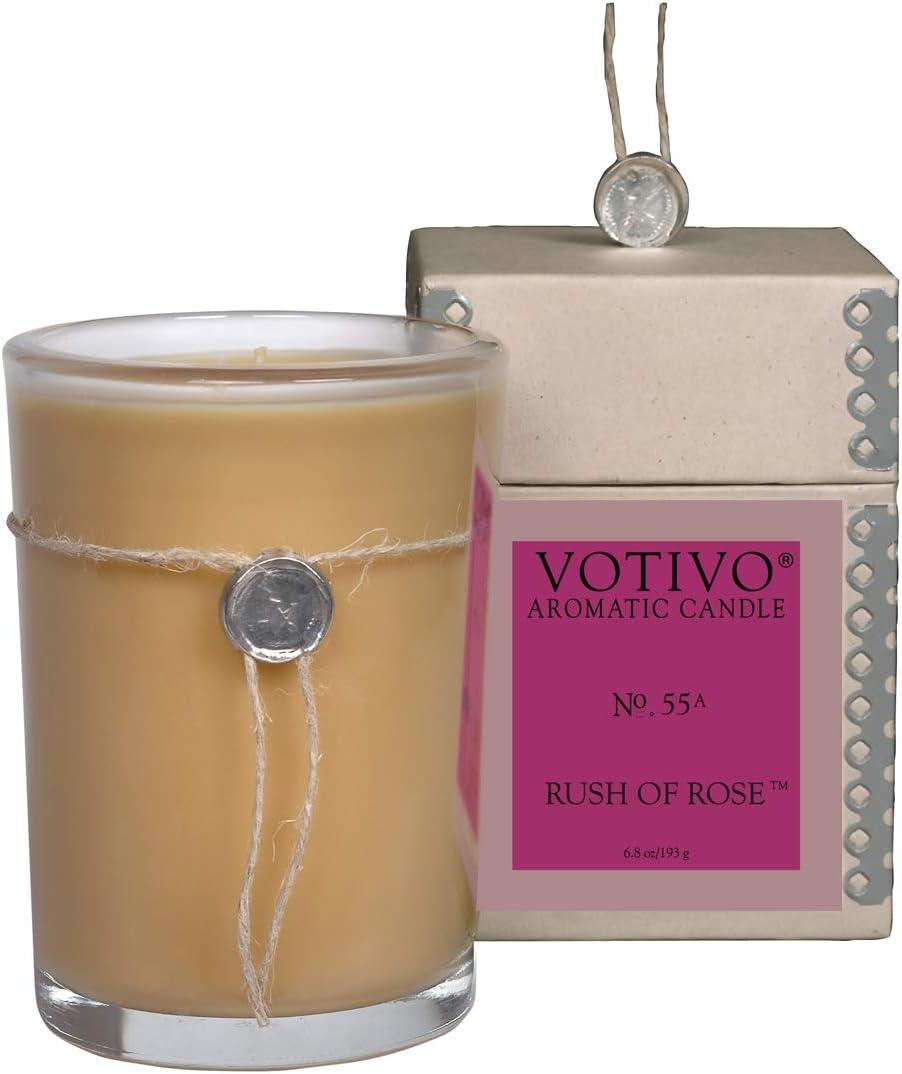 Votivo Aromatic Candle - Rush of Rose No. 55