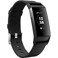 KIMILAR Bransoletki kompatybilny z Fitbit Charge 4 / Charge 3 z materiału, szybkozamykaczem, nylonowy pasek zamienny do…