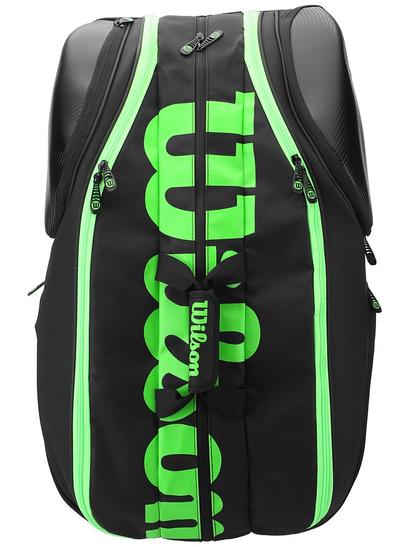 Wilson Blade Collection Racket Bag (15 Pack), Black/Green by Wilson (Image #3)