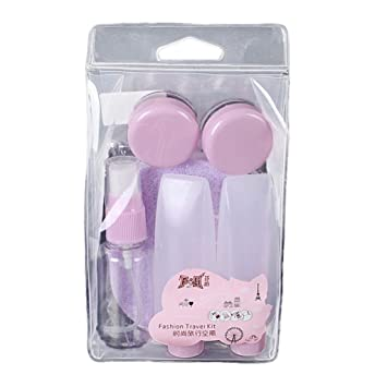 Yosemite 8 pcs recargables Champú cosmético portátil Spray recipiente plástico Kit de viaje, Light Purple
