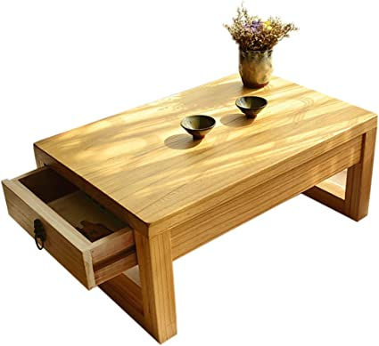 Coffee Tables Solid Wood Japanese Tea Table Living Room Storage Table Tatami Low Table Household Dining Table Amazon De Kuche Haushalt
