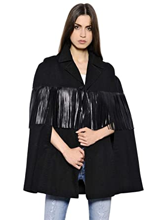 b5b617f05 Saint Laurent Cotton Gabardine Cape Leather Black Authentic  3500 ...