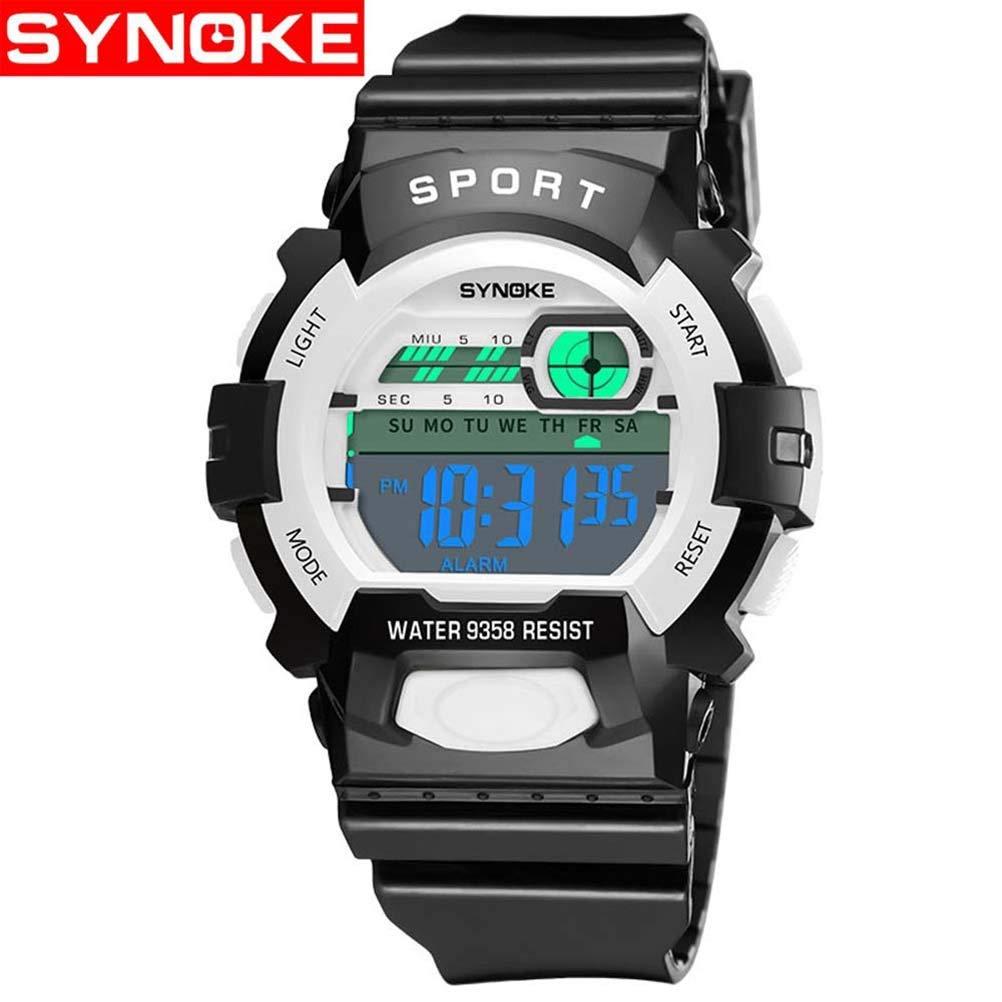 sportuhr synoke Impermeable multifuncion Reloj electronico Reloj Deportivo Reloj Digital, Estudiante de la Escuela Primaria 9358: Amazon.es: Relojes