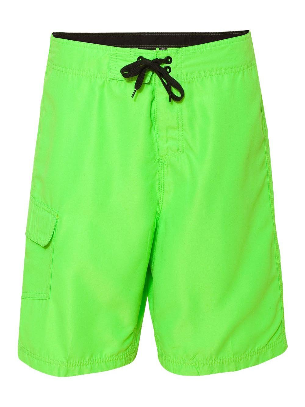 Burnside B9301 Men's Solid Board Shorts Neon Green 40