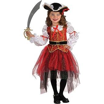 dfca0862392b5 Zoncinoo コスプレ 海賊少女 子供用コスチューム パイレーツ 仮装 子供服 ハロウィン 衣装 女の子ドレス L