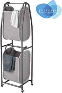 neatfreak! 2 Tier Rolling Vertical Laundry Sorter