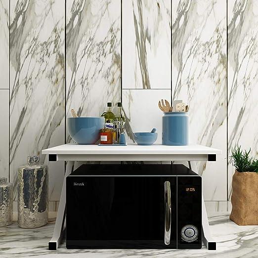 Huisenuk - Estante de metal para microondas para cocina, soporte ...