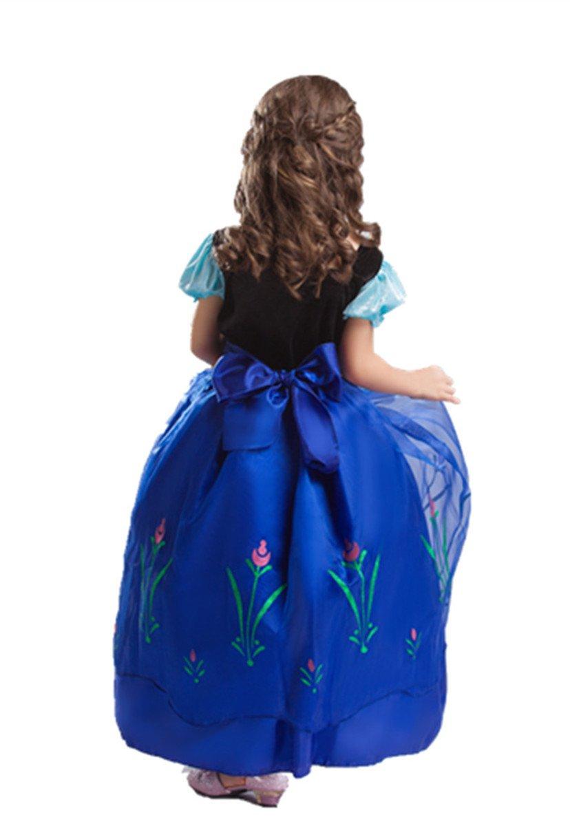 Fulltime TM Girls Petticoat Bowknot Rainbow Skirt Tutu Dress Dance Wear M 4-6 years