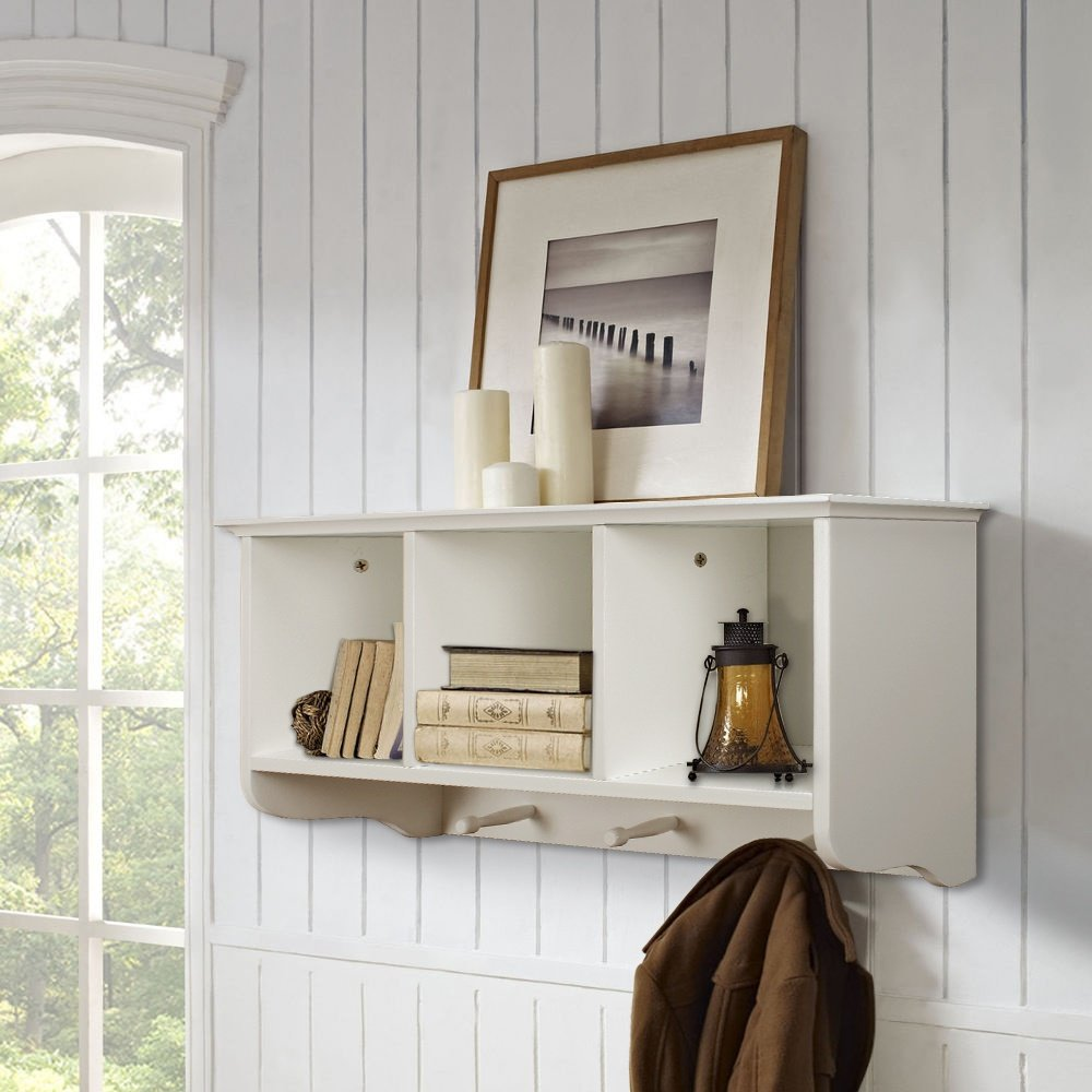 oaks bins rack numbered hook wayfair coat furniture cabrillo wooden pdx mounted gracie shelf with wall