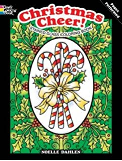 Christmas Cheer Stained Glass Coloring Book Holiday