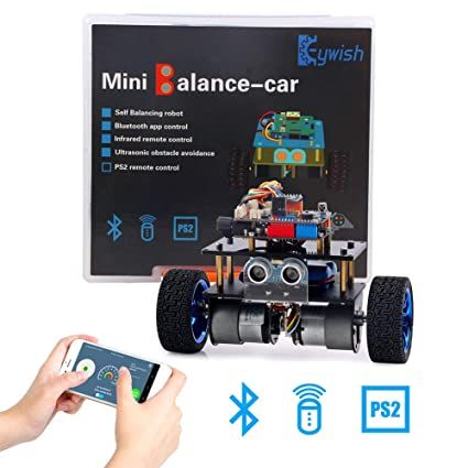 Keywish Balance Car Robot for Arduino UNO Project Smart Car Kit with  Tutorial, Uno R3 Board, Line Tracking Module, MPU6050 Module, Bluetooth  Module,