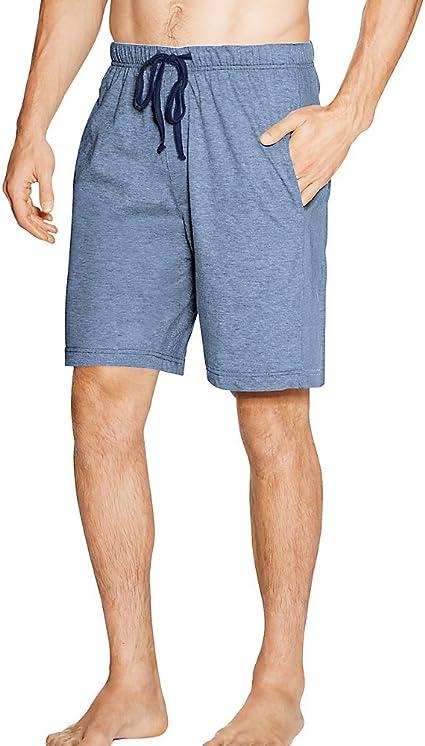 Hanes Mens 2 Pack Jersey Cotton Knit Tagless Sleep /& Lounge Drawstring Shorts