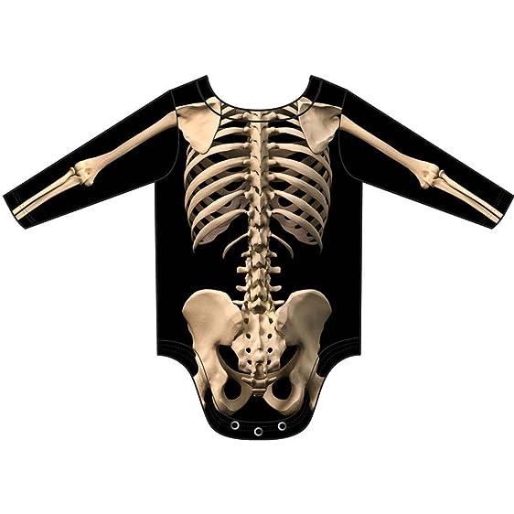 Infant Skeleton Costume Romper Infant Onesie Size 6 Mos  sc 1 st  Amazon.com & Amazon.com: Skeleton Bone Romper Infant Costume: Clothing