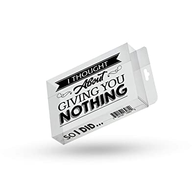 Giving You Nothing So I Did Prank Gift Box - Gag Gift for Friends Clear Gift Box Clean Humor Novelty Gags for Family Stocking Stuffers for Men: Toys & Games