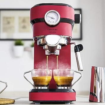 Cecotec Cafetera Express con Manómetro Cafelizzia 790 Shiny Pro. Brazo con Doble Salida y Dos filtros, 20bares de Presión, Depósito extraíble de 1,2L, ...